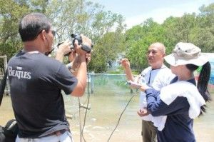 Documenting the mangrove planting activity