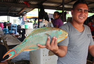 A fish vendor in Dili, Timor-Leste
