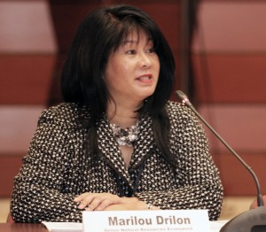 Marilou Drilon, Senior Natural Resource Economist and head of the coordination unit for the project