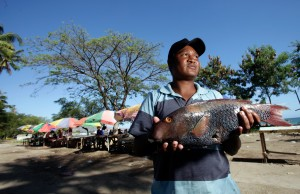 A daily catch from a fisher in Timor-Leste (ADB Photo Library)