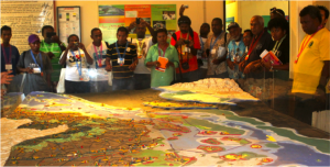 The Participatory 3-D Modelling process of the Danajon Bank was presented as a tool in taking an EAFM planning. (Photo by CTKN)