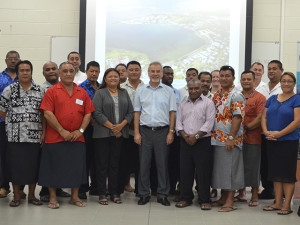 Participants at the MARPOL Annex VI workshop being help at SREP this week. (Photo courtesy of SPREP)