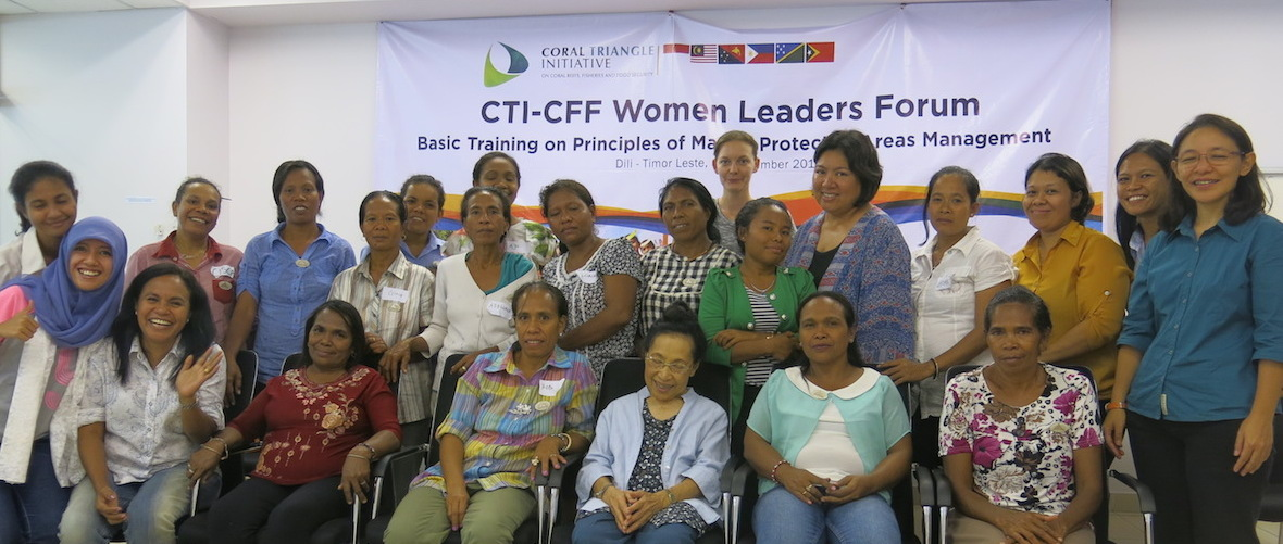 Training Women on Principles of Marine Protected Area Management