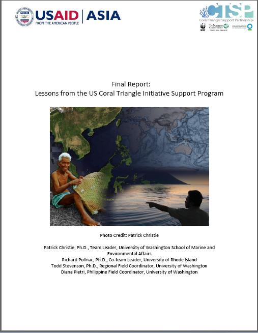 Final Report: Lessons from the US Coral Triangle Support Program