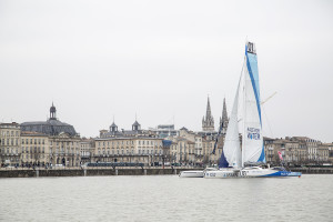 It was a thrilling moment when the R4WO left Bordeaux 15 March 2015 to start its round the world expedition. (Photo courtesy of: Race for Water)