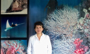 Angelique Songco, site manager of the Tubbataha Reefs Natural Park World Heritage area © Tubbataha Reefs Natural Park / Angelique Songco  (Image Source: Tubbataha Reefs Natural Park)