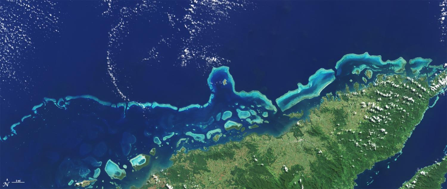 Satellites Update Coral Reef Maps Made by Darwin