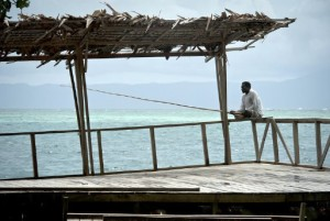 The national coastal and marine conservation structure will protect the livelihood of this artisanal fisherman in Saeraghi on Ghizo Island, where Solomon Islanders are creating a Marine Protected Area. (Photo: USAID CTSP / Tory Read)