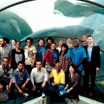 The Coral Triangle Pacific project team at the Sydney Aquarium in Darling Harbour. (Photo by: SeaLife Group)