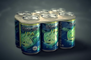 A six‐pack packaging, made with byproducts of the beer making process, that instead of killing animals, feeds them. They are also 100% biodegradable and compostable. (Photo by: Saltwater Brewery/We Believers.)