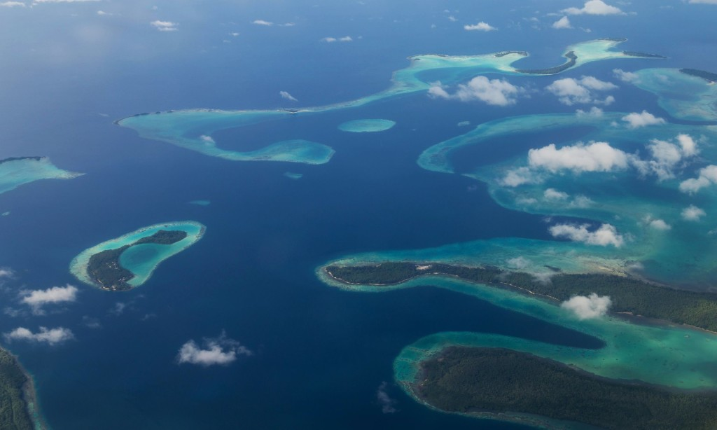 The Solomon Islands and other Pacific island nations are under threat from climate change. (Photo from: Oliver Forstner/Alamy Stock Photo)