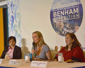 Alexandra Cousteau, the granddaughter of legendary ocean explorer Jacques Cousteau, capped her two-week visit to the Philippines as the guest speaker at a media forum last September 10, where scientists and government officials discussed preliminary findings from this year's expedition to the shallowest part of Benham Rise. (Photo from: OCEANA/ Maan Mayo)